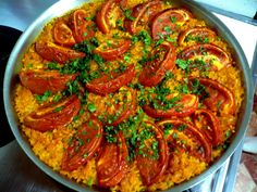 Oh yes. You know what this is. Don't you? I think you do. Plump Bomba rice, ripe tomatoes, heavy with juice, spiky and fragrant saffron, smoky, powdery pimenton, a splash of wine and blistering oven heat - all of these...