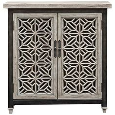Uttermost Branwen Light Gray Wash Wood 2-Door Accent Cabinet - #18R66 | Lamps Plus