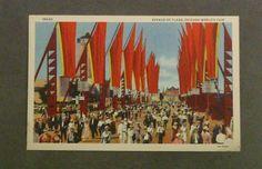 Century of Progress, Avenue of Flags, tourist 1933 Chicago Worlds Fair