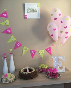 Happy Birthday Decor, Simple Birthday Decorations, Happy Party, 1st Birthday Foods, Mom Birthday, 1st Birthday Parties, Diy Party, First Birthdays, Baby