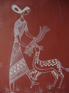 Art Girl with a Deer