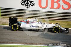 Williams-Mercedes FW38 during Friday free practice session of the 2016 Formula One Italian Grand Prix at the Autodromo Nazionale Monza.