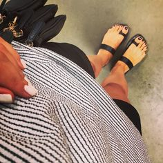 #ootd #newin #leathersandals #greeksandals #etsy #shorts #gap #stripedtshirt #zara #FromWhereIStand #mkbag #blackandwhite #strójdnia #goraco #outandabout #monday #goodhello #polishgirl