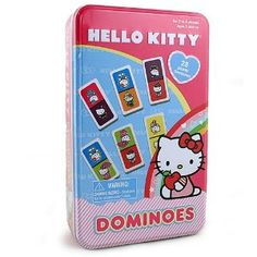 Hello Kitty Dominoes [Tin Box] in Tile Games. Hello Kitty Games, Tin Boxes, Lunch Box, Play, Fun, Stuff To Buy, Tile, Products, Mosaics