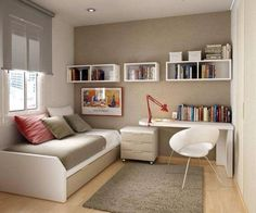 Trendy Home Office Quarto Simples Ideas Guest Bedroom Office, House Interior, Trendy Home, Home, Home Office Design, Bedroom Design, Home Bedroom, Remodel Bedroom, Home Decor