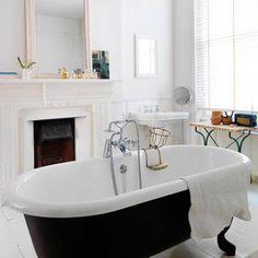 Fireplace + Bathroom. Whoa.