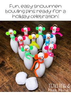 snowman bowling set for parties Bowling Pins, Bowling Ball, Kid Games, Games For Kids, Event Ideas, Party Ideas, Gift Ideas, Christmas Math, Christmas Ornaments