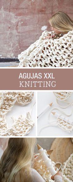 Tutorial DIY: Cómo tejer una bufanda XXL - Chunky - Punto en DaWanda.es