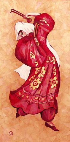 """Another piece made from dried rose petals! """"Dance with spoons"""" by Dilorom Shermatova"""