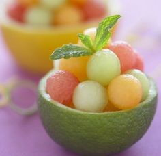Melon Balls in Lime