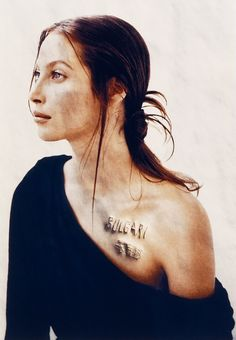 Daniele Buetti, Christy Turlington with Bulgari scar, 1996.
