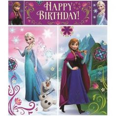 Party Ideas :: Girls Party Ideas :: Frozen Birthday Party :: Frozen Scene Setter Wall Decoration