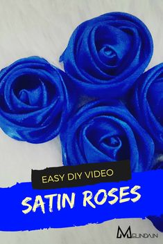 How to make Satin rose Fabric Roses, Satin Roses, Satin Flowers, Diy Ribbon Flowers, Ribbon Flower Tutorial, Rose Step By Step, How To Make Rose, Baby Hair Accessories, Simple Rose