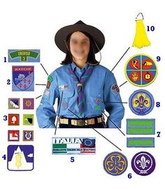 Guides and Scouts around the world celebrate World Thinking Day every year on 22 February! Girl Scout Uniform, Girl Scout Swap, Girl Scout Troop, Scout Leader, Boy Scouts, Girl Scout Badges, Brownie Girl Scouts, Guides Uniform, Gs World