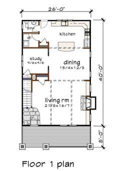 Craftsman Style House Plan - 3 Beds 2.5 Baths 1986 Sq/Ft Plan #79-301 - Houseplans.com Narrow Lot House Plans, Best House Plans, Craftsman Style House Plans, Country House Plans, Roof Plan, Lego House, Plan Design, Garage Apartments, Building Plans