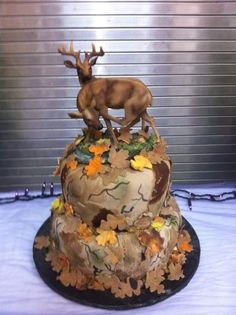 "@Miranda Marrs....Deer Hunting Cake....Connor says ""OMG that is every hunters dream cake. Randa could make that because she makes good everything, especially shrimp!"""