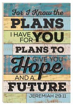Barn Board Wall Art: For I Know The Plans, Jeremiah 29:11