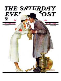 """""""Bargaining with Antique Dealer"""" Saturday Evening Post Cover, May 19,1934"""