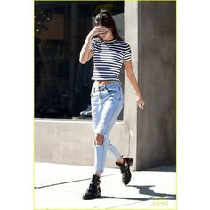 Kendall Kylie Jenner Keep it Casual for a Coffee Run! ❤ liked on Polyvore featuring kendall jenner and people