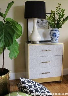 Simple Details: ikea hack...faux ostrich covered rast