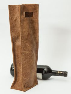 My handmade Wine bottle leather bag can fit any holiday or occasion as a perfect gift. The leather is specially selected, and well processed in order