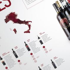 Wine menu | cafe DelVino on Behance