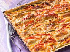 Découvrez la recette Quiche au poivron et au fromage de chèvre sur cuisineactuelle.fr.