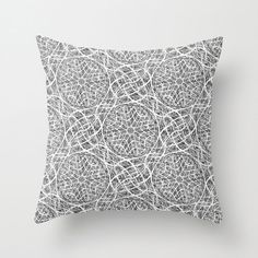 Black White Throw Pillow Cover Abstract by HLBhomedesigns on Etsy