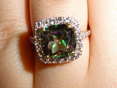 Just because Im so obsessed and I always get questions about what it is :) ...mystic fire topaz ring