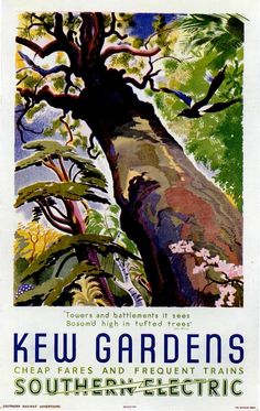 'Kew Gardens' Southern Electric Railway Poster, 1941 by Feodor Rojankovsky.