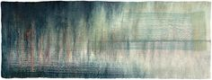 Refractions - felted wool and silk with free motion embroidery by Valerie Wartelle