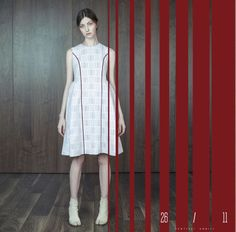 26/11 dress without sleeves. Платье без рукавов с бордовым кантом. #платье #dress #russiandesign #fashion #luxury