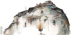 Ilustración, pintura y acuarela inacabada de Sunga Park