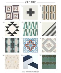 Cement Tile RoundUp Cle Tile Patterned Tiles Emily Henderson