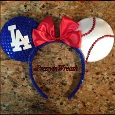 Los Angeles Dodgers Inspired Mickey Mouse ears headband