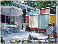 1963 Mid Century Modern Landscaping Atomic Jet Age Design Ideas Outdoor Living | eBay