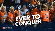 Auburn beats Bama to move on to the SEC Softball Championship Game for first time in school history! Auburn Softball, Championship Game, Auburn University, Mississippi State, Auburn Tigers, Alma Mater, College Football, Alabama, Beats