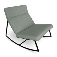 The GT Rocker by Gus Modern combines the modern lounge chair and rocking chair. GT was inspired by retro car interiors and airport seating. Upholstery Foam, Lounge Seating, Lounge Chairs, Mid Century Modern Design, Floor Chair, Modern Furniture, Lounge Furniture, Space Furniture, Office Furniture
