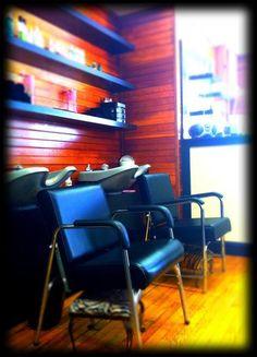 Salon love the wood walls