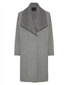 Double-Faced Herringbone Coat