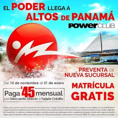 Llegó @PowerClubPANAMA a #CondadoDelRey #Centenial y comenzó la Pre-Venta con MATRICULA GRATIS y B/.45.00 mensuales. Disfruta de entrenar en el mejor gimnasio de #Panama con BOX de #PowerFit y todas las clases incluidas de venta SOLO en Stand @PowerClubPANAMA  @AltaplazaMall