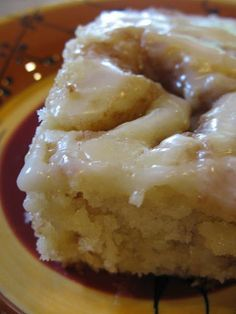 Cinnamon Roll Cake- Literally Melts In Your Mouth! Maybe Good For Christmas Breakfast:).