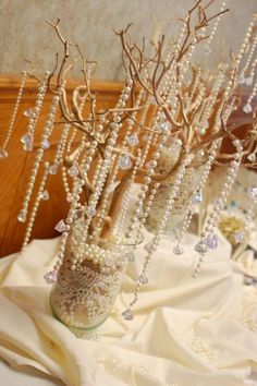 Pearl and crystal drops for a whimsical wishing tree. <3
