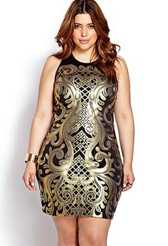 Plus Size Luxe Baroque Bodycon Dress $22.80