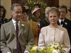 As Time Goes By - Lionel Hardcastle and Jean Pargetter getting married by the court clerk Judi Dench, As Time Goes By, British Comedy, Getting Married, Love Story, Tv Series, Neckline, Movies, Google Search