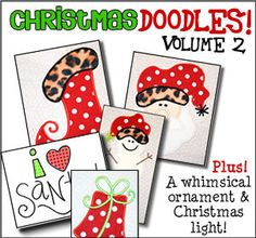 Christmas Doodles Volume 2 - Applique Patterns