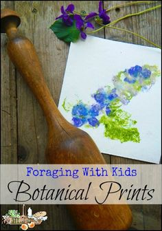 Foraging with kids provides ample flowers and leaves to make pounded flower art, or homemade botanical prints; live seasonally with this natural kids craft.