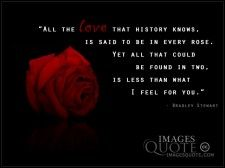 Love that history knows - Love Quote