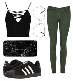 """""""👌"""" by sinai05 on Polyvore featuring Boohoo and adidas"""