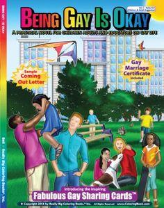Innovative coloring book, 'Being Gay is Okay'